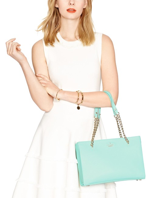 Item - Emerson Smooth Small Phoebe Spa Blue Leather Shoulder Bag