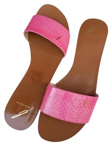 B Brian Atwood Bubble Gum Pink Sandals