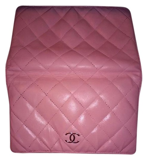 Chanel Chanel Lambskin Quilted Pink Long Wallet Double CC Logo Image 0