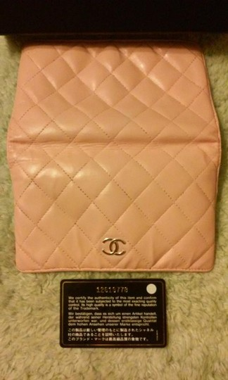 Chanel Chanel Lambskin Quilted Pink Long Wallet Double CC Logo Image 1