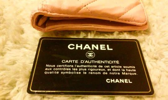Chanel Chanel Lambskin Quilted Pink Long Wallet Double CC Logo Image 7