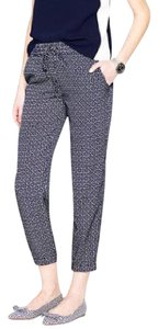J.Crew Relaxed Pants navy/white