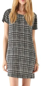 Joie short dress Silk Houndstooth Plaid Shift on Tradesy