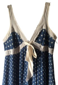 BCBGMAXAZRIA short dress BLUE Summer Polka Dot Ivory Lace on Tradesy