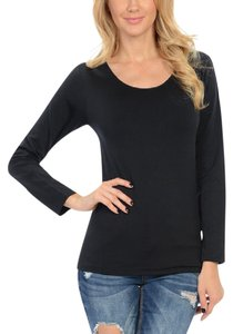 LIFO Fleece Long Sleeve Compression Crew Neck T Shirt Black