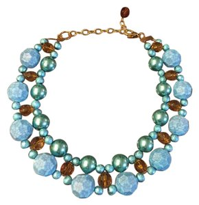 Lenora Dame Lenora Dame Necklace, with blue, turquoise, and amber beads.