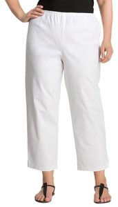 Eileen Fisher Organic Cotton Ankle Stretchy Spring Summer Straight Pants white
