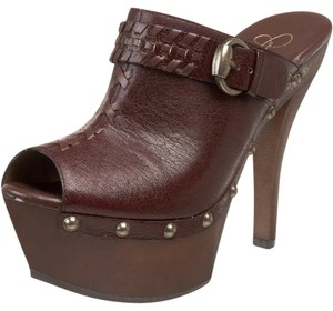 Jessica Simpson Brown Mules