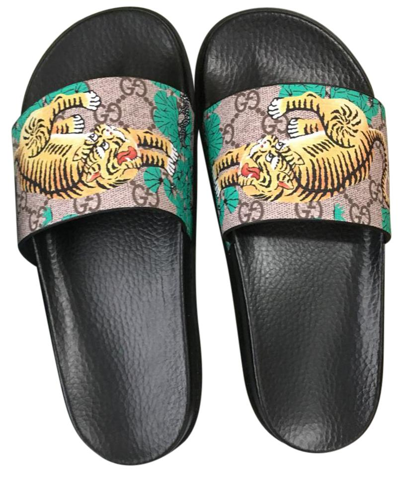 67571a7c0f68 Gucci Bengal Tiger Slide Sandals Size US 7.5 Regular (M