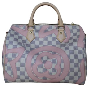 Louis Vuitton Tote in White/Pink