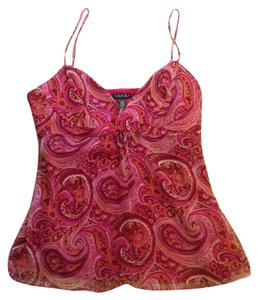 Laundry by Shelli Segal Maroon and pink Halter Top