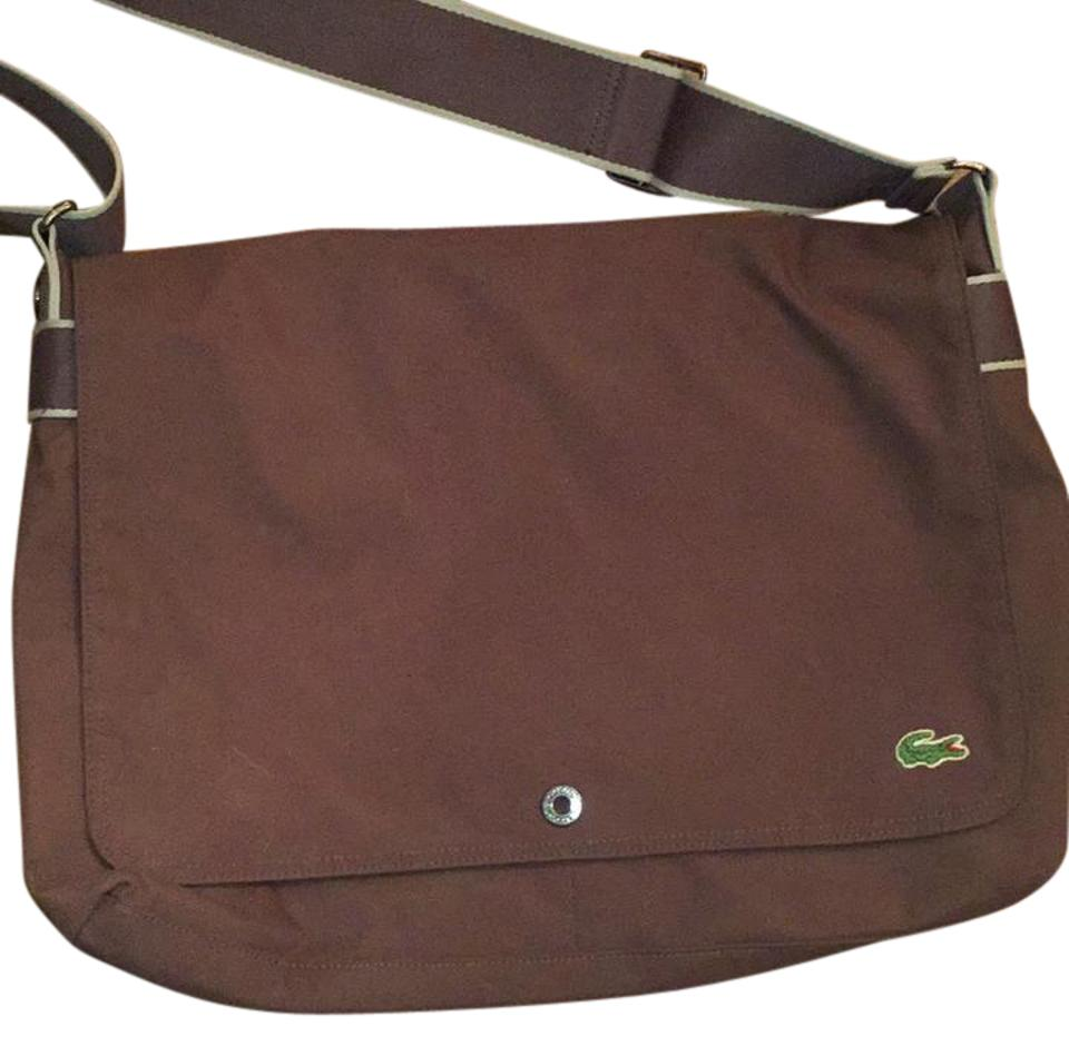 f7bed172b169 Lacoste Messenger Brown Canvas Cross Body Bag - Tradesy