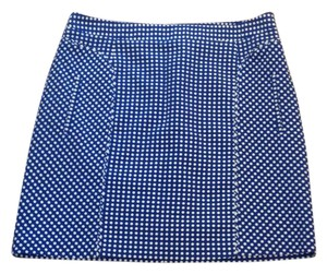 Laundry by Shelli Segal Mini Skirt Blue and white