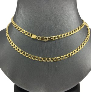 Other 14K Yellow Gold Curb Link 22 Inches ~3.50mm