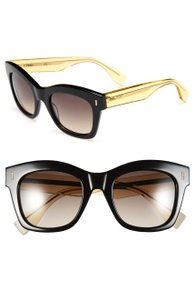 Fendi FENDI Women's Oversized Retro Havana Tortoise Acetate Sunglasses