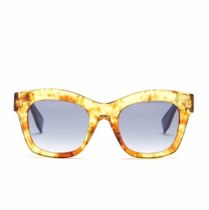 Fendi FENDI Women's Oversized Gold Acetate Fashion Sunglasses