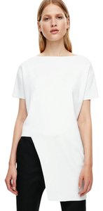 COS Asymmetric Edy Chic Modern Minimal Top White