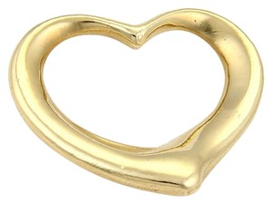 Tiffany & Co. 15853 . Tiffany & Co. Peretti Large Open Heart 18k Gold Charm