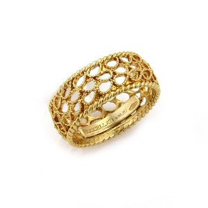 BUCCELLATI 15968 . Buccellati Filidoro 18k Gold Filigree 8mm Wide Ring