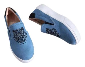 Kenzo Suede Tiger 39 Blue Flats