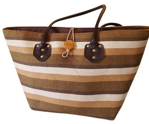 Other Tote in four-color brown beige tan white