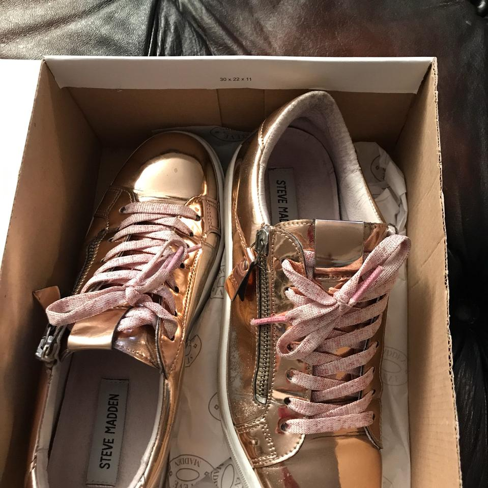 cf1882234fa Steve Madden Rose Gold Leather Fashion Sneakers Sneakers Size US 8 ...