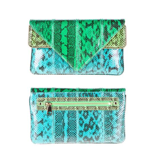 Preload https://img-static.tradesy.com/item/21208557/brian-atwood-carla-snakeskin-triangle-colorblock-clutch-0-1-540-540.jpg