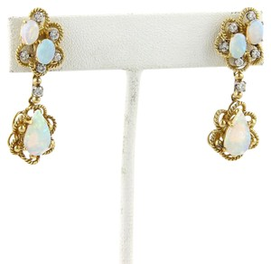 Other Opal & Diamonds Floral 18k Gold Earrings