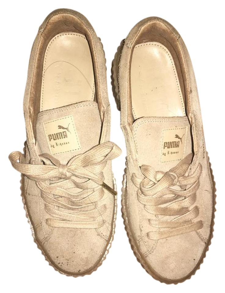 outlet store 4e619 0544b Tan Fenty Creepers Sneakers