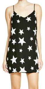 Aqua short dress Star print on Tradesy