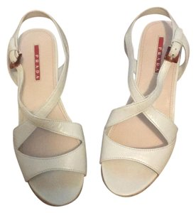 Prada bone/cream Sandals