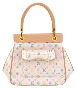 Louis Vuitton Satin Multicolor Abelia Monogram Handbag Hobo Bag