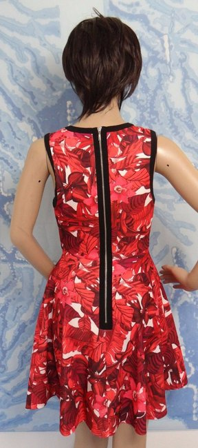 A.B.S. by Allen Schwartz short dress RED PRINT Peek-a-boo Keyhole Exposed Zipper Foliage Plus on Tradesy Image 9