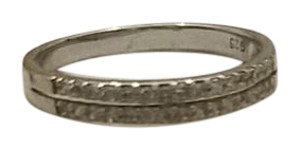Macy's Sterling Silver CZ double row band
