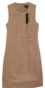 Theory Alhambra Structured Fitted Neutral Wear Dress