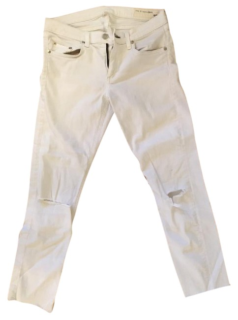 Item - White Distressed Skinny Jeans Size 27 (4, S)