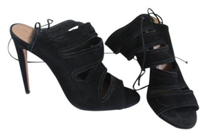 Aquazzura Black Suede Sandals