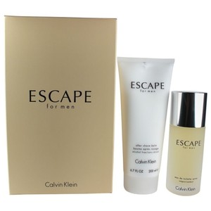 Calvin Klein Escape by C.K Gift-Set-EDT-3.4oz /100ml Spry + Aftershave-balm-6.7oz