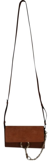 Item - Faye Mini Suede & Leather Wallet On A Chain Brown Tobacco Nano Cross Body Bag