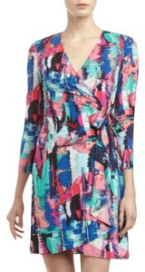 BCBGMAXAZRIA short dress Wrap Longsleeve Artsy on Tradesy