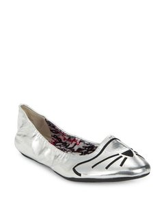 Karl Lagerfeld Embroidered Cat Silver Silver (Metallic) Flats