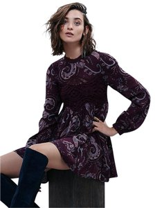 Free People short dress wine combo on Tradesy