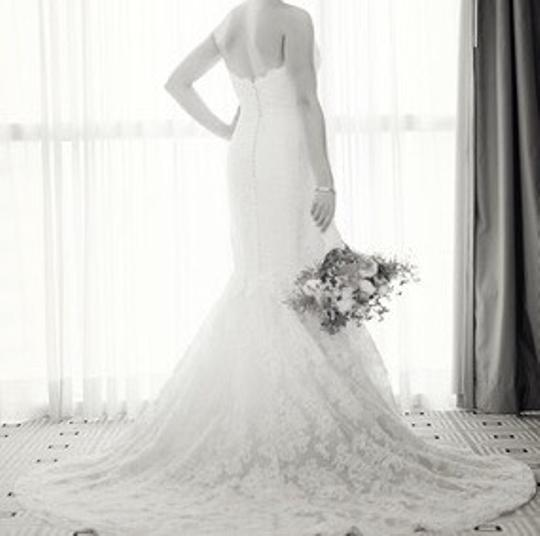 Anne Barge Anne Barge French Lace Sweetheart Trumpet Dress Wedding Dress