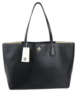 Tory Burch Tote in Black / Beige
