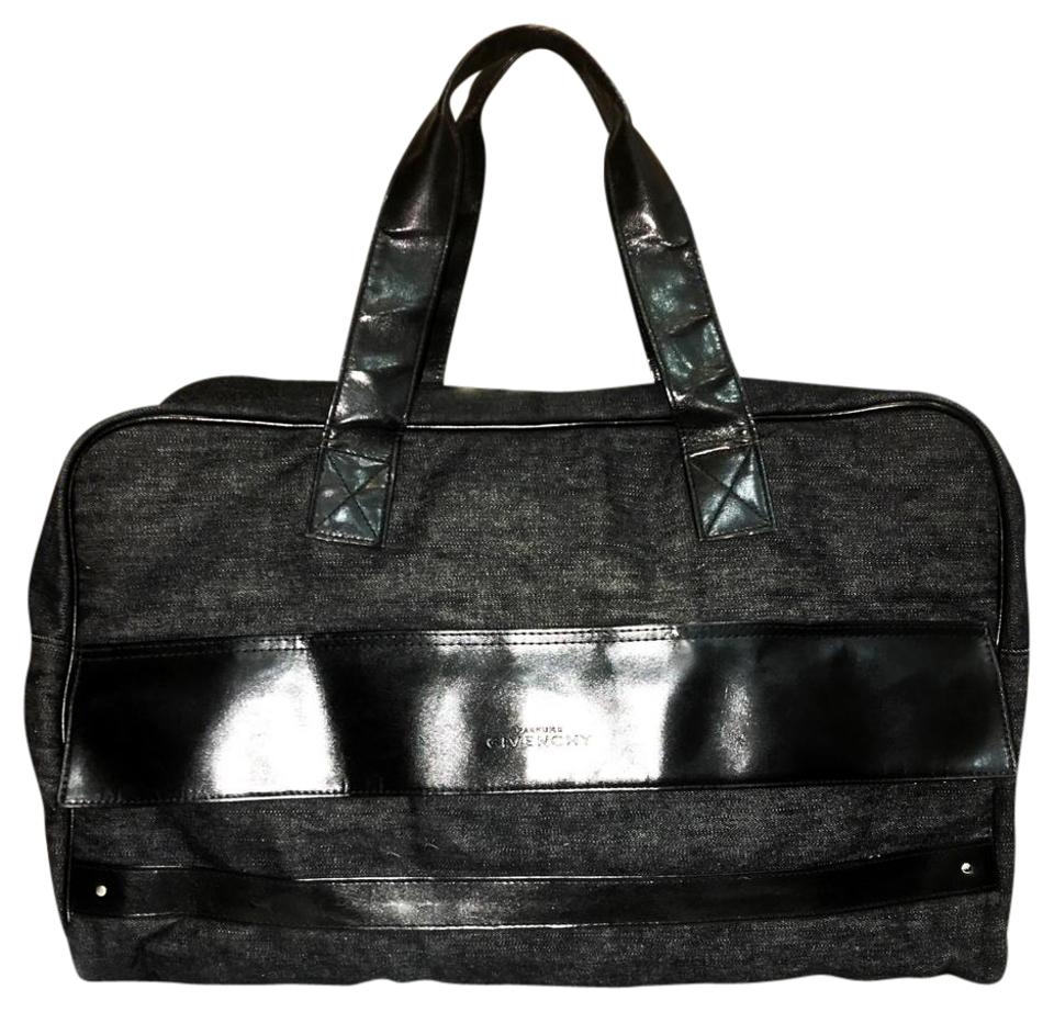0f68909d16 Givenchy Parfums Gray and Black Cotton Man Made Weekend/Travel Bag ...