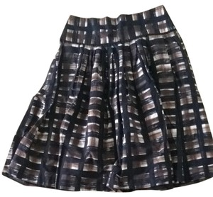 Zara Skirt Multi. Blue Brown White