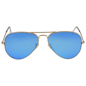 Ray-Ban Ray-Ban Aviator Metal Matte Gold Frame Crystal Blue Mirrored Lenses