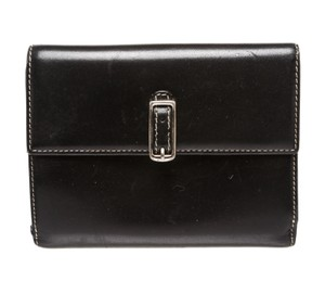 Coach Coach Black Red Leather Flap Change Bill Card Wallet