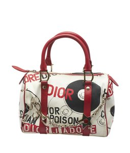 Dior Canvas Christian Satchel in Multi-Color