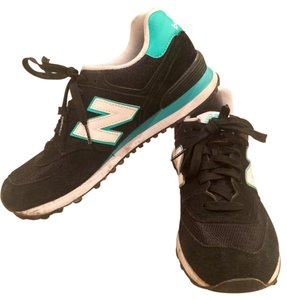 New Balance black, white, teal Athletic